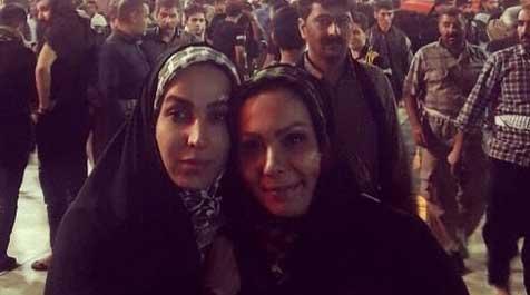 دو بازیگر زن در بینالحرمین + عکس