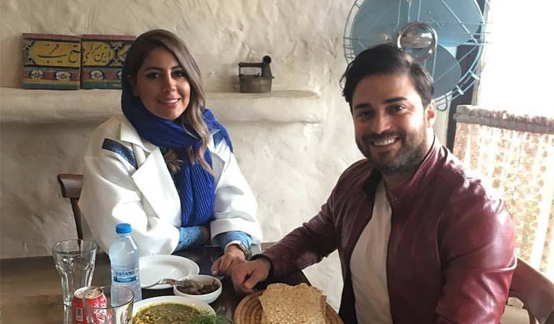 بابک جهانبخش در کنار همسرش + عکس