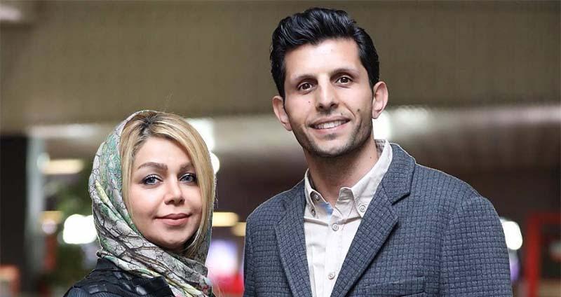 یک استقلالی به همراه همسرش در جشنواره فیلم فجر + عکس