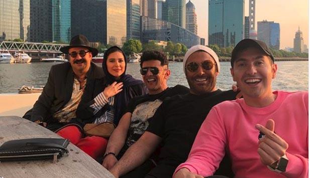 گلزار و حیایی همراه بازیگران ساخت ایران در چین + عکس