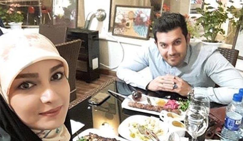 پوشش خانم مجری و همسرش دیشب در یک رستوران + عکس