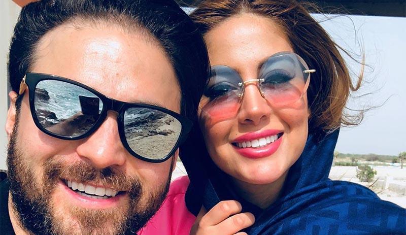 خوشگذرانی خواننده معروف و همسرش + عکس