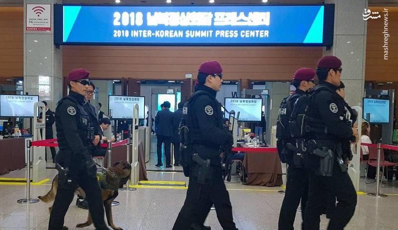 فضای امنیتی محل مذاکره دو کره + عکس