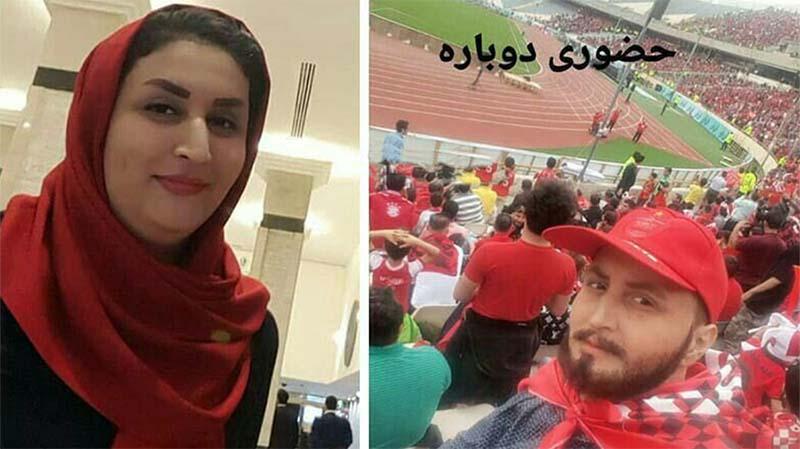 تیپ عجیب دختر پرسپولیسی دیشب در ورزشگاه آزادی! + عکس