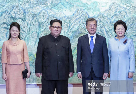 خوشو بش بانوی اول کرهشمالی و جنوبی! + عکس