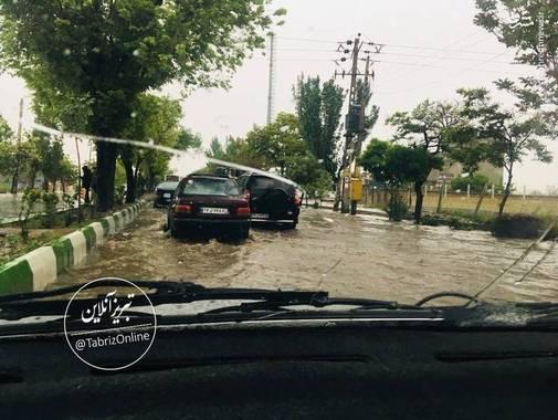 تبریز به زیر آب رفت + عکس