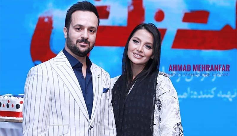 اولین حضور «احمد مهران فر» و همسرش روی فرش قرمز + عکس