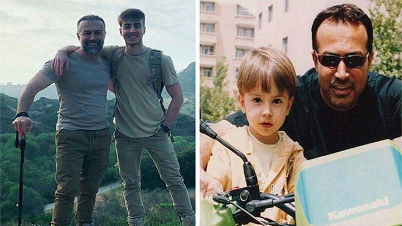 دانیال حکیمی و پسرش در گذر زمان + عکس