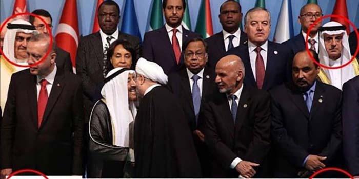 واکنش سعودی ها به روبوسی روحانی! + عکس