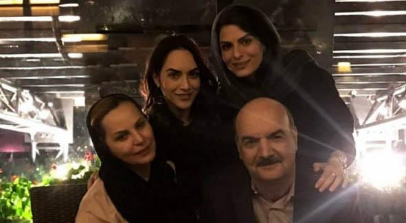 جشن تولد مجری معروف تلویزیون با حضور همسر و دخترانش + عکس