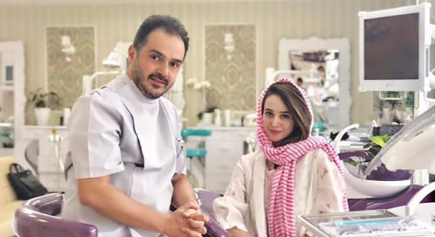 الناز حبیبی در مطب آقای دکتر! + عکس