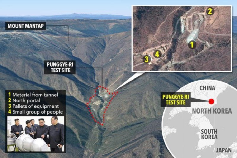 کره شمالی سایت اتمی خود را تخریب کرد؛ آمریکا قهر کرد! + عکس
