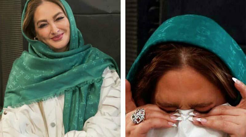 اشک های خانم بازیگر در یک مراسم + عکس