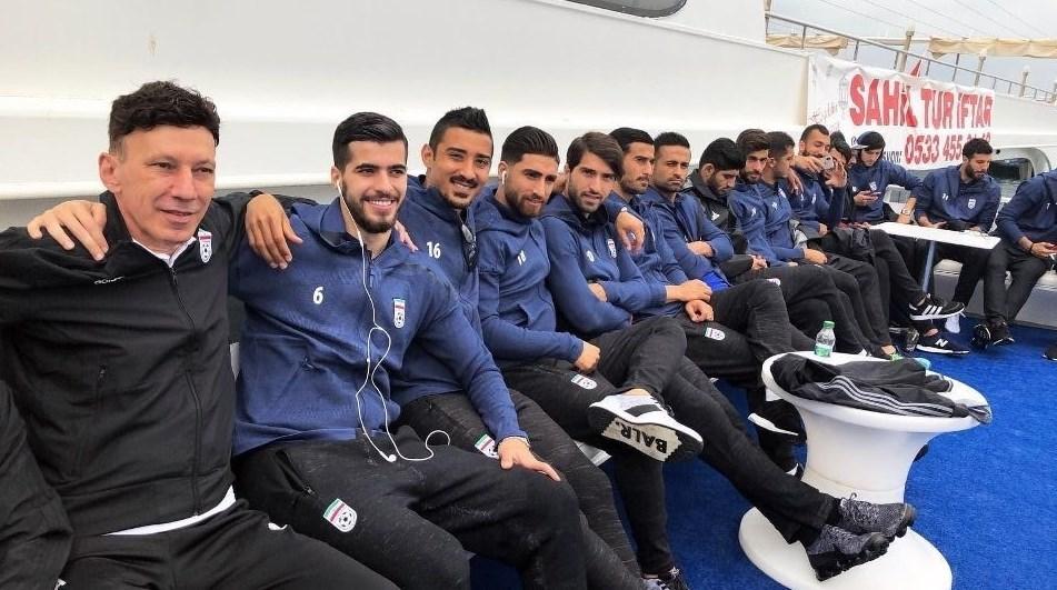 کِشتی سواری بازیکنان تیم ملی در ترکیه + عکس