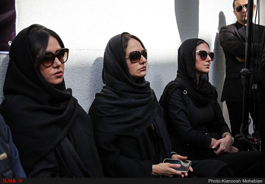 مهناز افشار در مراسم تشییع پیکر ناصر ملکمطیعی + عکس