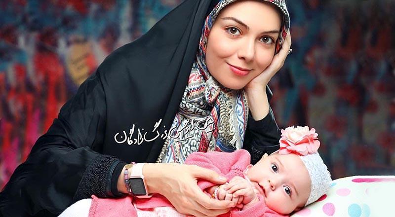 دختر «آزاده نامداری» در حال رفتن به دَدَری! + عکس