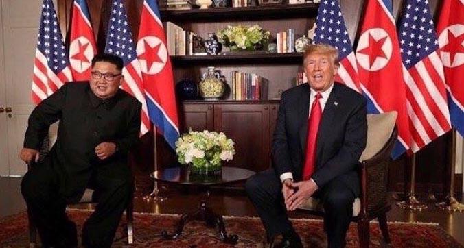 فرش ایرانی در مذاکرات ترامپ و اون! + عکس