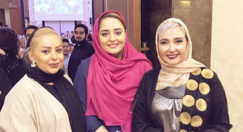 پوشش «کتایون ریاحی» و «نرگس محمدی» در یک سالن زیبایی! + عکس