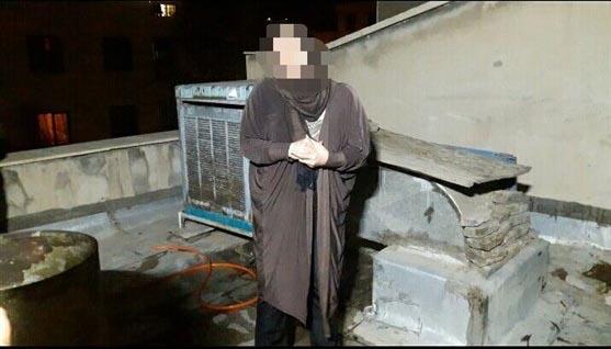 آتش زدن جسد شوهر روی پشت بام خانه + عکس