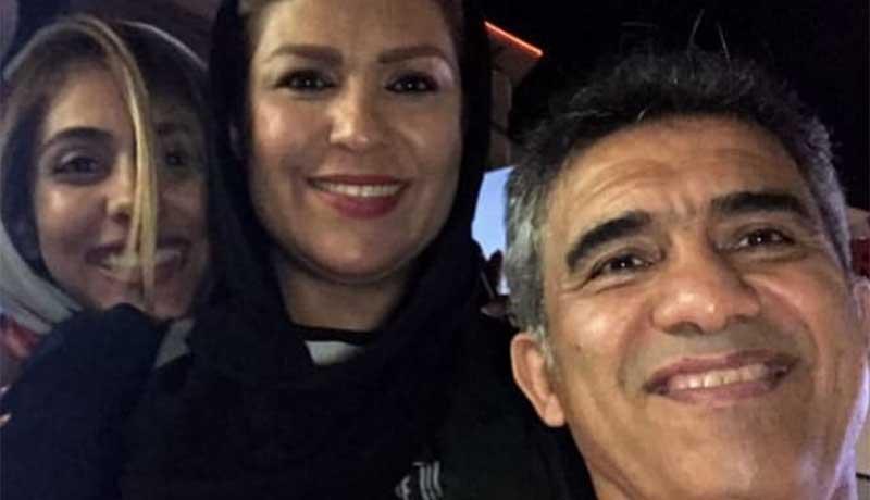 احمدرضا عابدزاده به همراه همسر و دخترش + عکس