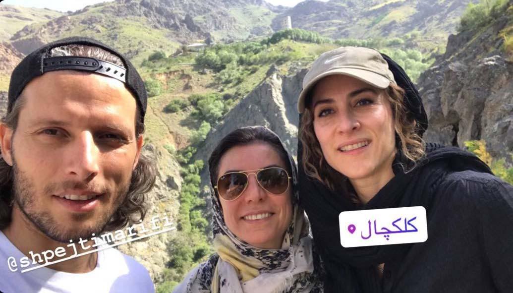 کوهنوردی ویشکا آسایش و فوتبالیست معروف! + عکس