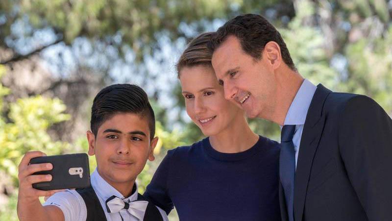 جدیدترین تصویر از همسر بشار اسد + عکس