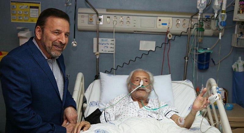 عیادت رئیس دفتر رئیس جمهور از جمشید مشایخی + عکس