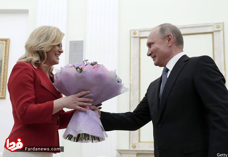 هدیه رمانتیک پوتین به رئیس جمهور کرواسی! + عکس