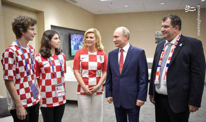 خانواده رئیس جمهور کرواسی در استادیوم+ عکس