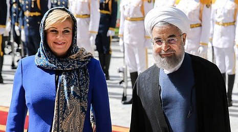 رئیس جمهور کرواسی در تهران! + عکس