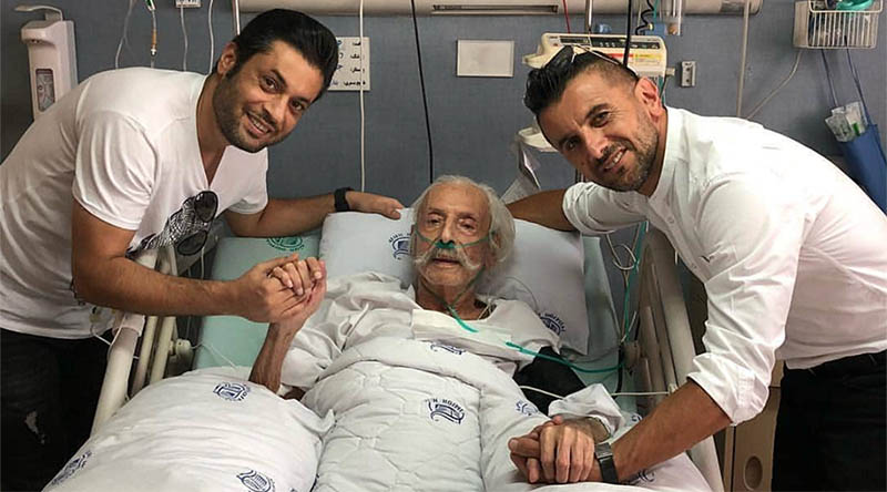 عیادت امین حیایی از جمشید مشایخی در بیمارستان + عکس