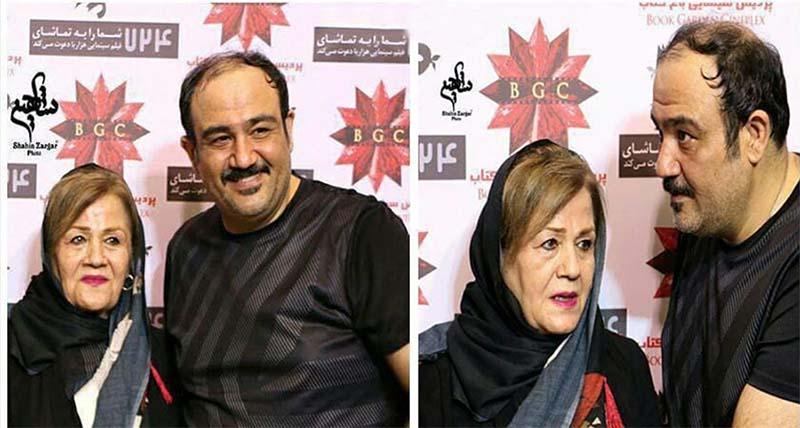 مهران غفوریان و مادرش دیشب در یک مراسم! + عکس