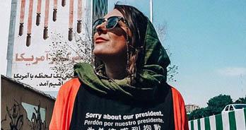 عذرخواهی توریست آمریکایی از مردم ایران + عکس