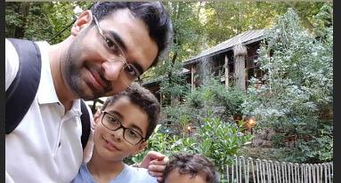 کوهنوردی آذری جهرمی به همراه فرزندانش + عکس