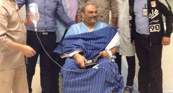 جواد خیابانی در بیمارستان بستری شد + عکس