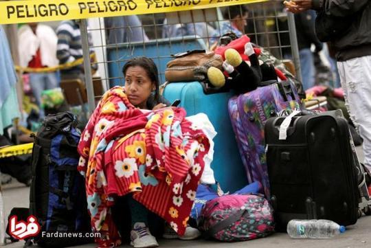 فرار مردم ونزوئلا به خاطر بحران اقتصادی + عکس
