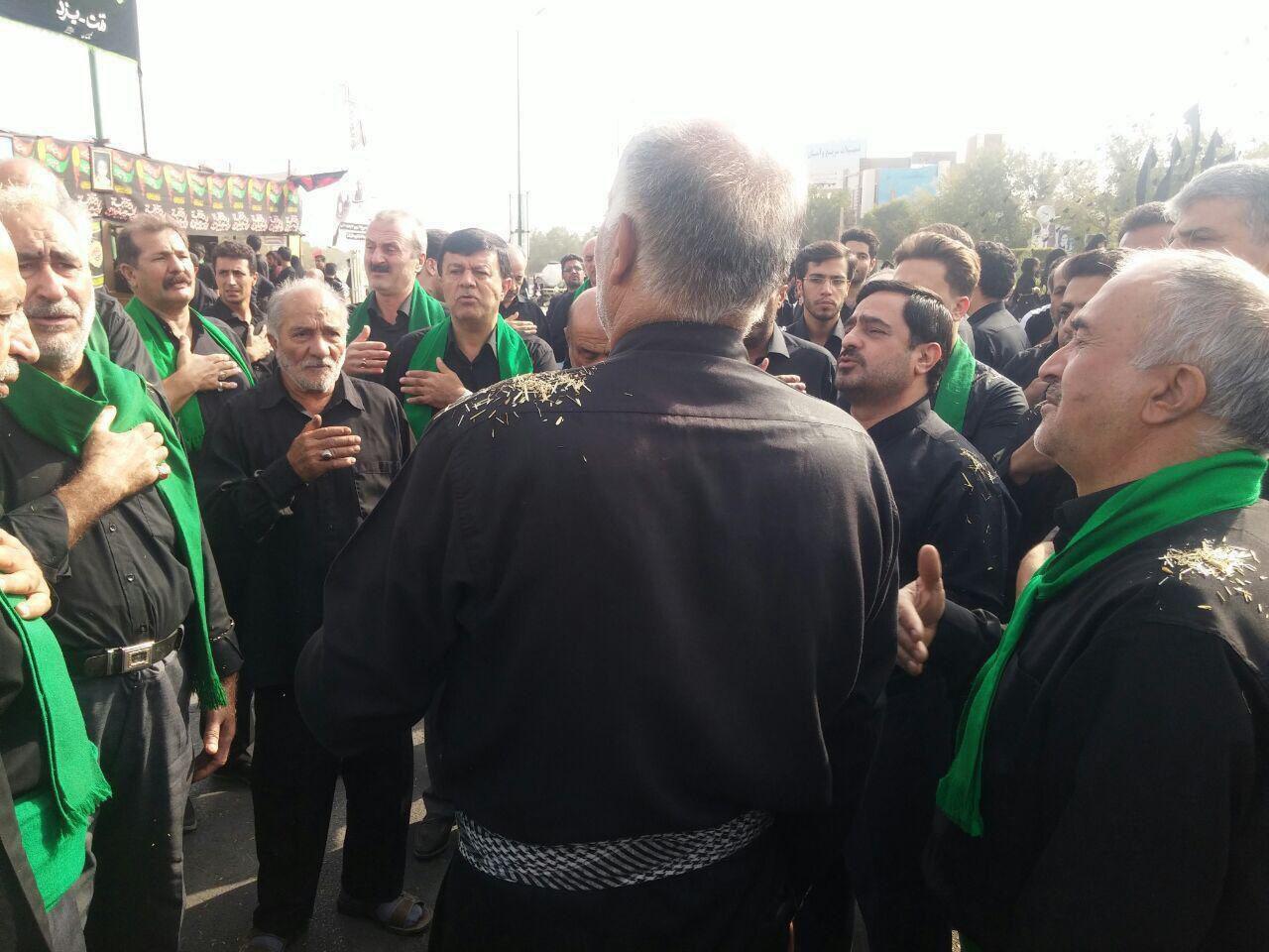 سعید مرتضوی در عزاداری روز عاشورا + عکس