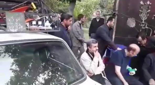 احمدی نژاد در تعزیه خوانی خیابان نارمک + عکس