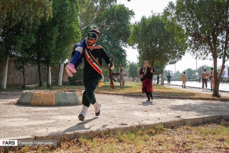 فرشته های نجات در حمله تروریستی اهواز + عکس