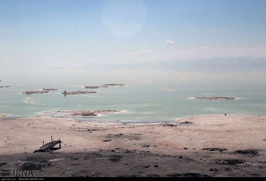 آخرین وضعیت دریاچه ارومیه  + عکس