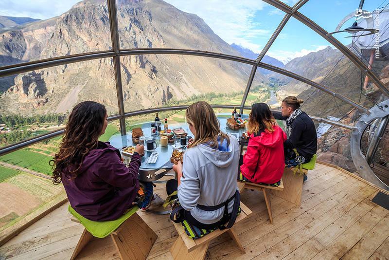 برای رفتن به این هتل باید کوهنورد باشید+تصاویر