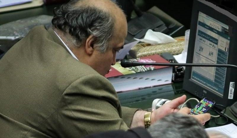نماینده بازیگوش مجلس: مگر جنایت کردهام؟+ عکس