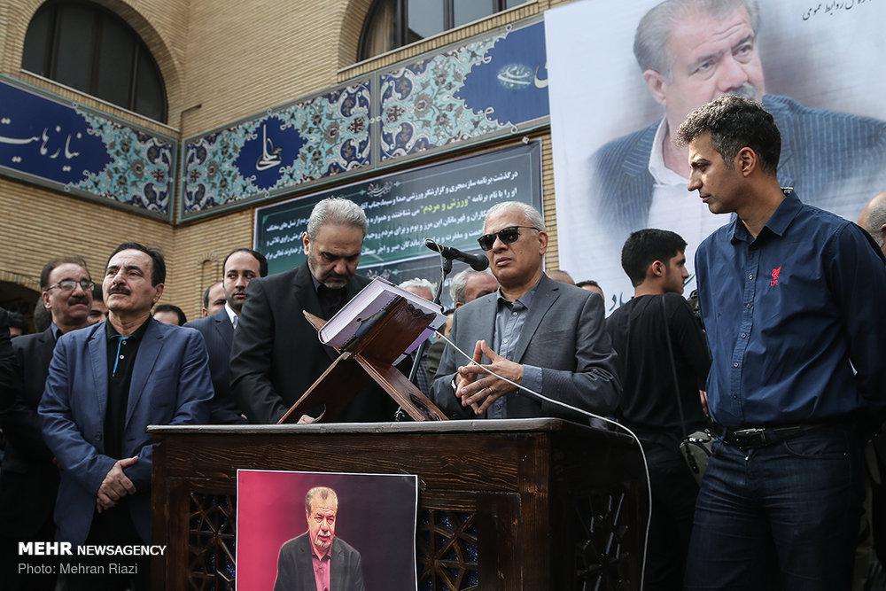 فردوسی پور و خیابانی در مراسم تشعییع پیکر «بهرام شفیع» + عکس