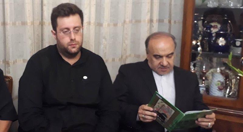 دلجویی وزیر ورزش از خانواده بهرام شفیع + عکس