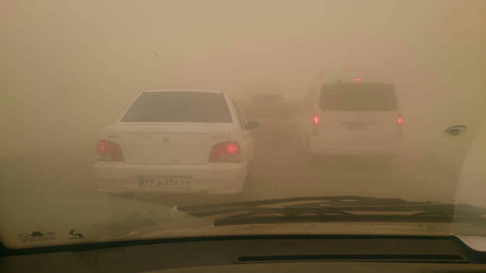 توفان ترسناک گرد و غبار در خوزستان + عکس