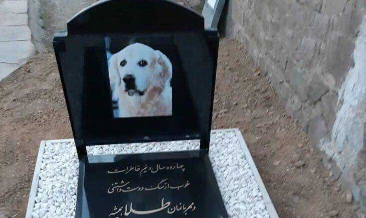 سنگ قبر یک سگ در ایران! + عکس