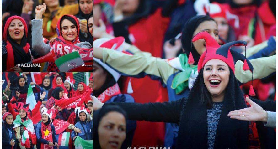 بازتاب حضور بانوان در استادیوم آزادی + عکس