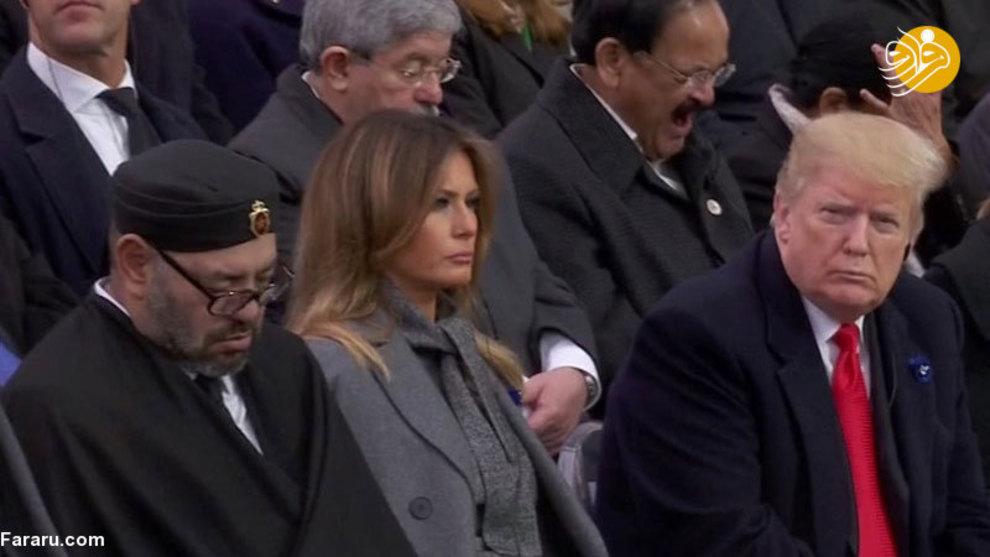 خوابیدن پادشاه مراکش کنار ملانیا ترامپ! + عکس