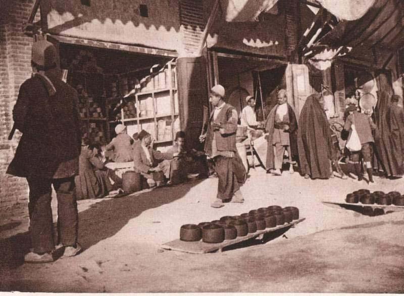بازار تهران در زمان قاجار + عکس
