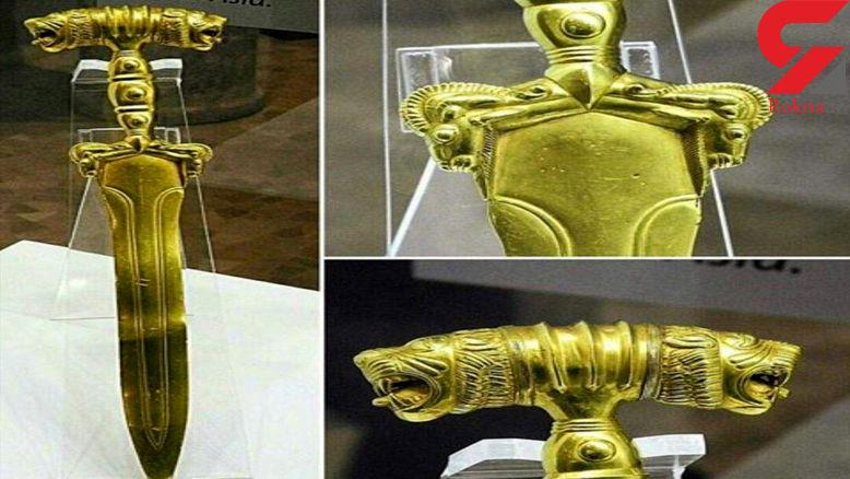 کشف شمشیری هخامنشی از طلای ناب + عکس